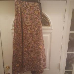 Reversible Silk  Wrap Skirt